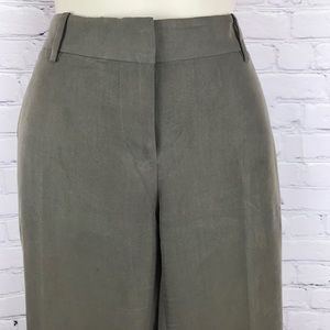 Ann Taylor LOFT🔥Women Slacks wide leg khaki green